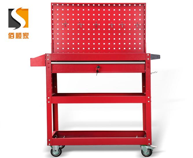 加厚汽修工具车五金工具柜周转零件双开门带抽屉封闭式铁皮工具箱